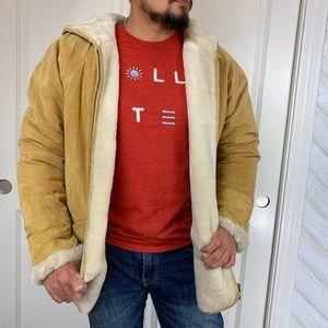 Other - Garantie De Qualité EXPRESS Tan Leather Jacket L